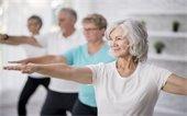older adults yoga pose