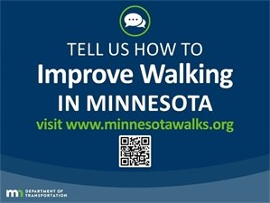 Tell us how to improve walking in Minnesota
