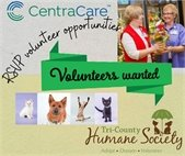 CentraCare and Humane Society volunteers