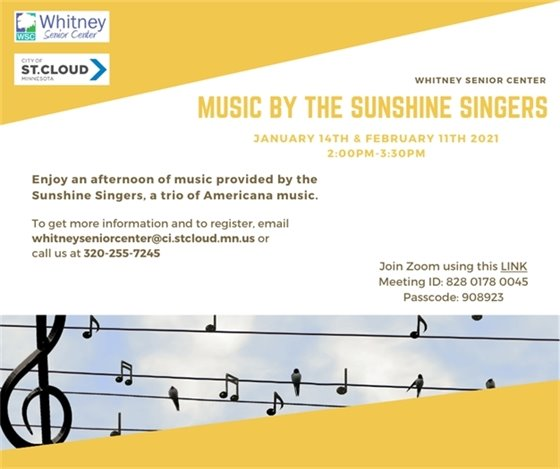 music by sunshine singers flyer