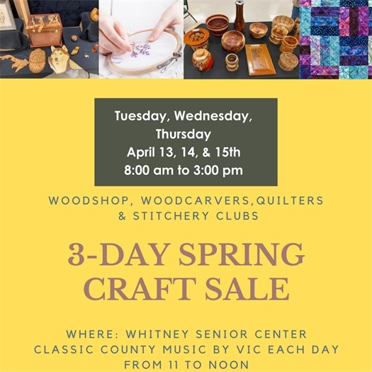 Craft Fair today 8am to 3pm