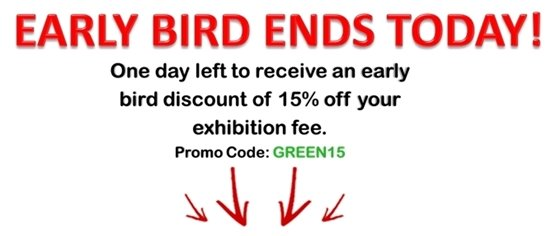 Early bird ends today...