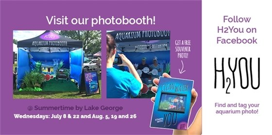 Visit our photobooth & follow H2You on Facebook