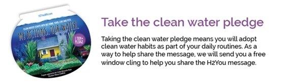 Take the clean water pledge