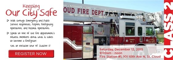 Register now for Class 2: Saturday, Dec. 12, 9am at Fire Station No. 1