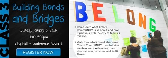 Class 3: Create CommUNITY, Sunday, Jan. 3, 2016, 1-2pm