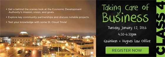Class 4: Taking Care of Business (Economic Development) Tuesday, Jan. 12, 2016, 4:30-6pm