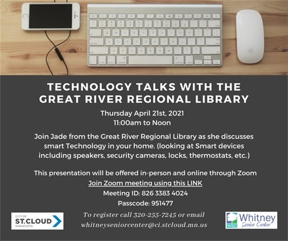 Tech talks with Great River Regional Library