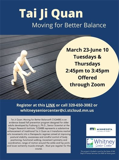 Tai Ji Quan: Moving for Better Balance Flyer