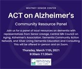 ACT on Alzheimer's Flyer
