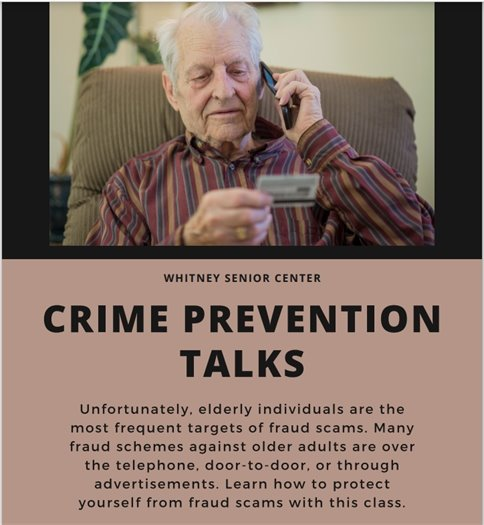 crime prevention talks
