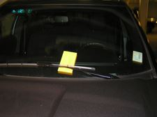 Parking ticket vehicle