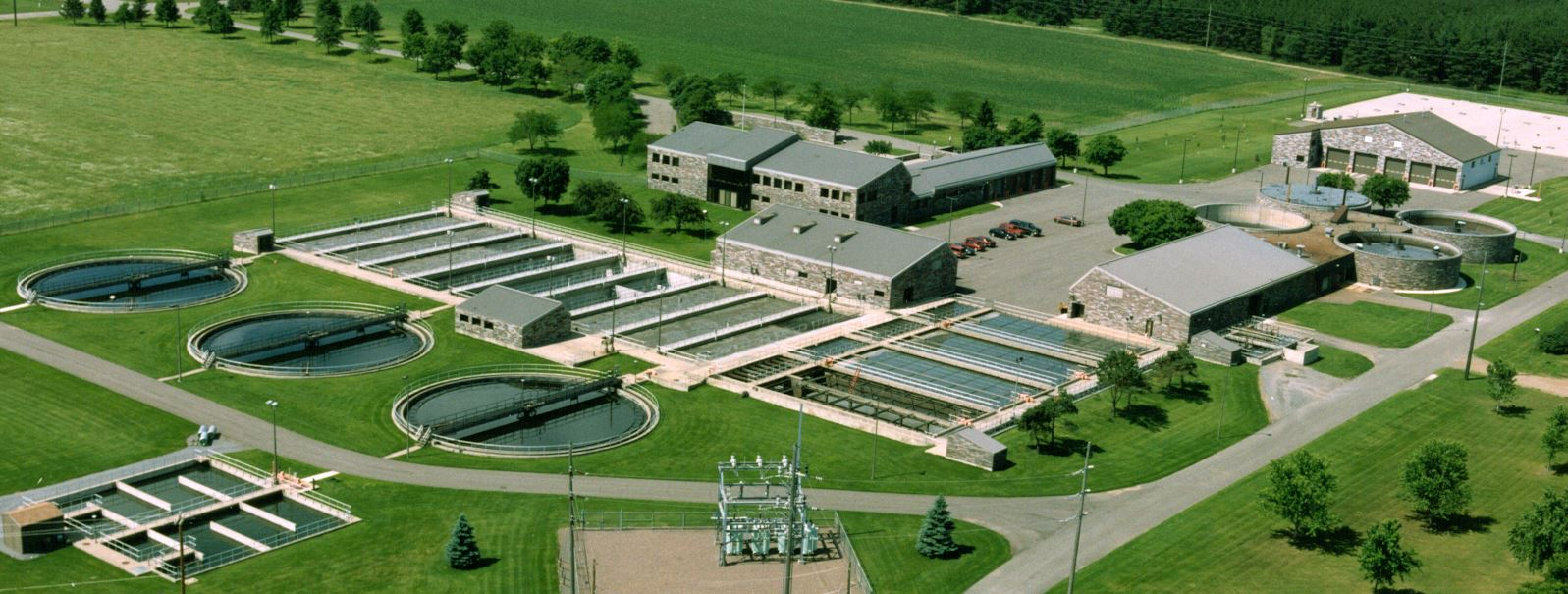 Aerial Photo of St. Cloud Wastewater Treatment Plant