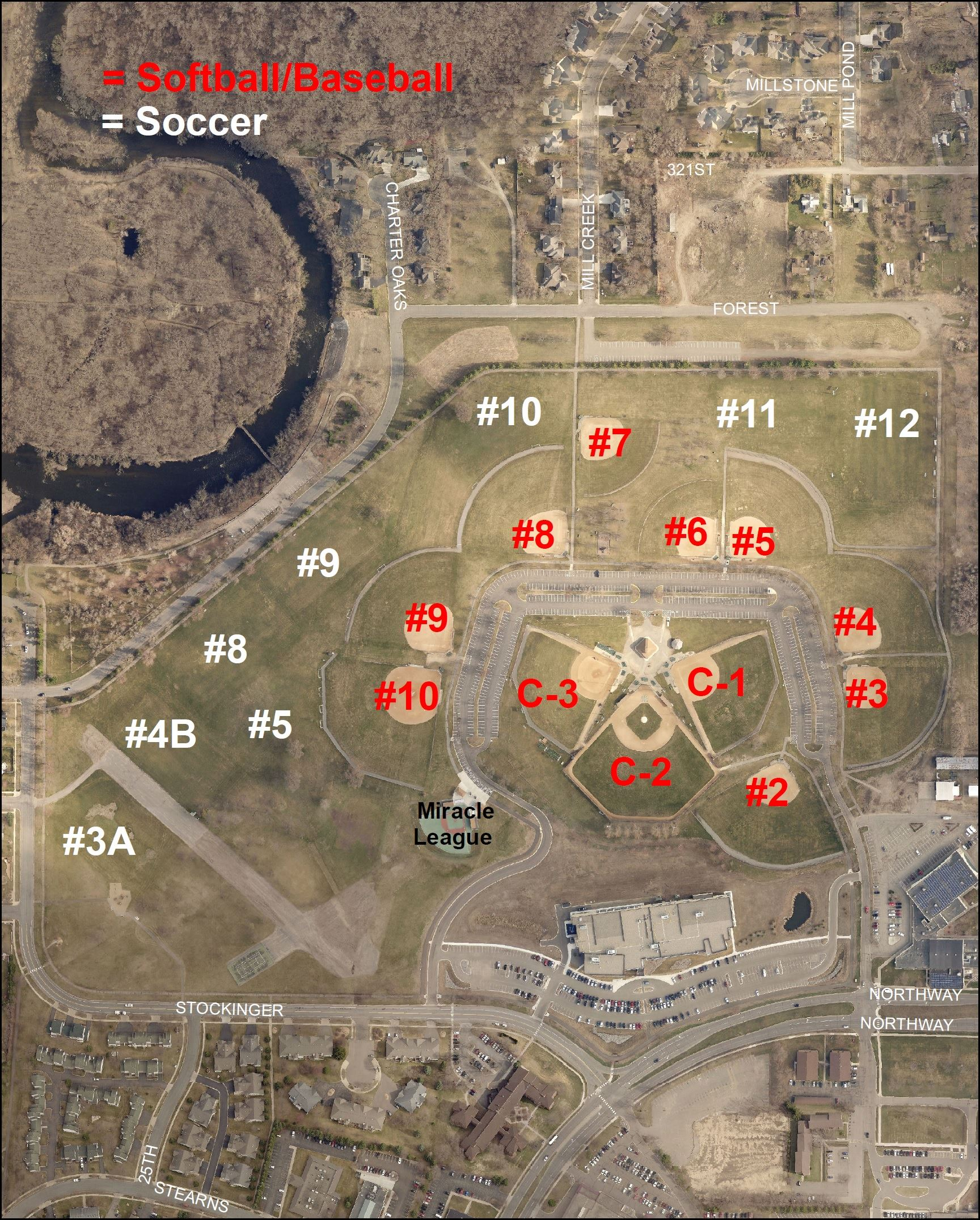 2017 Whitney Athletic Field Map