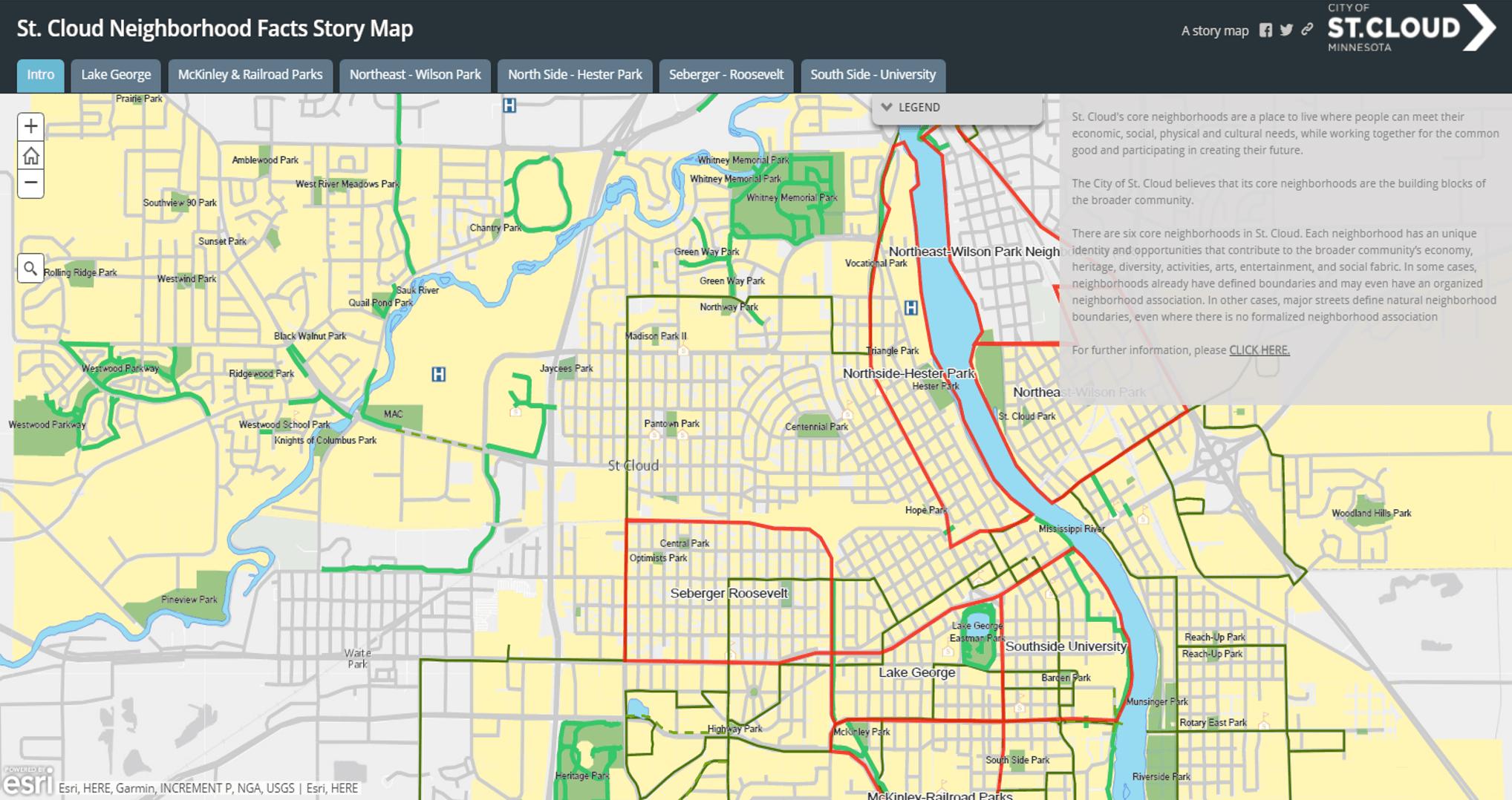Mn On Us Map.Neighborhood Information St Cloud Mn Official Website