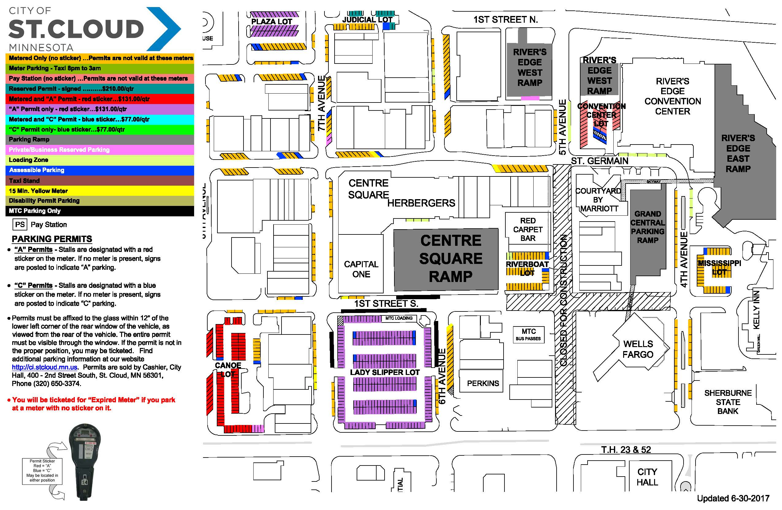5th Ave Parking Construction Map