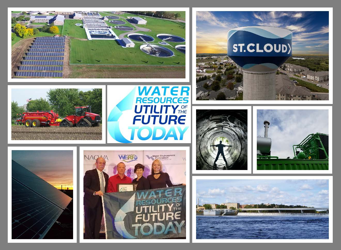Collage of St. Cloud Public Utility sites and buildings