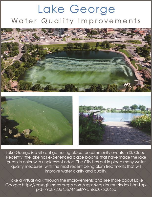 Flier alerting the community to water quality improvements being made at Lake George