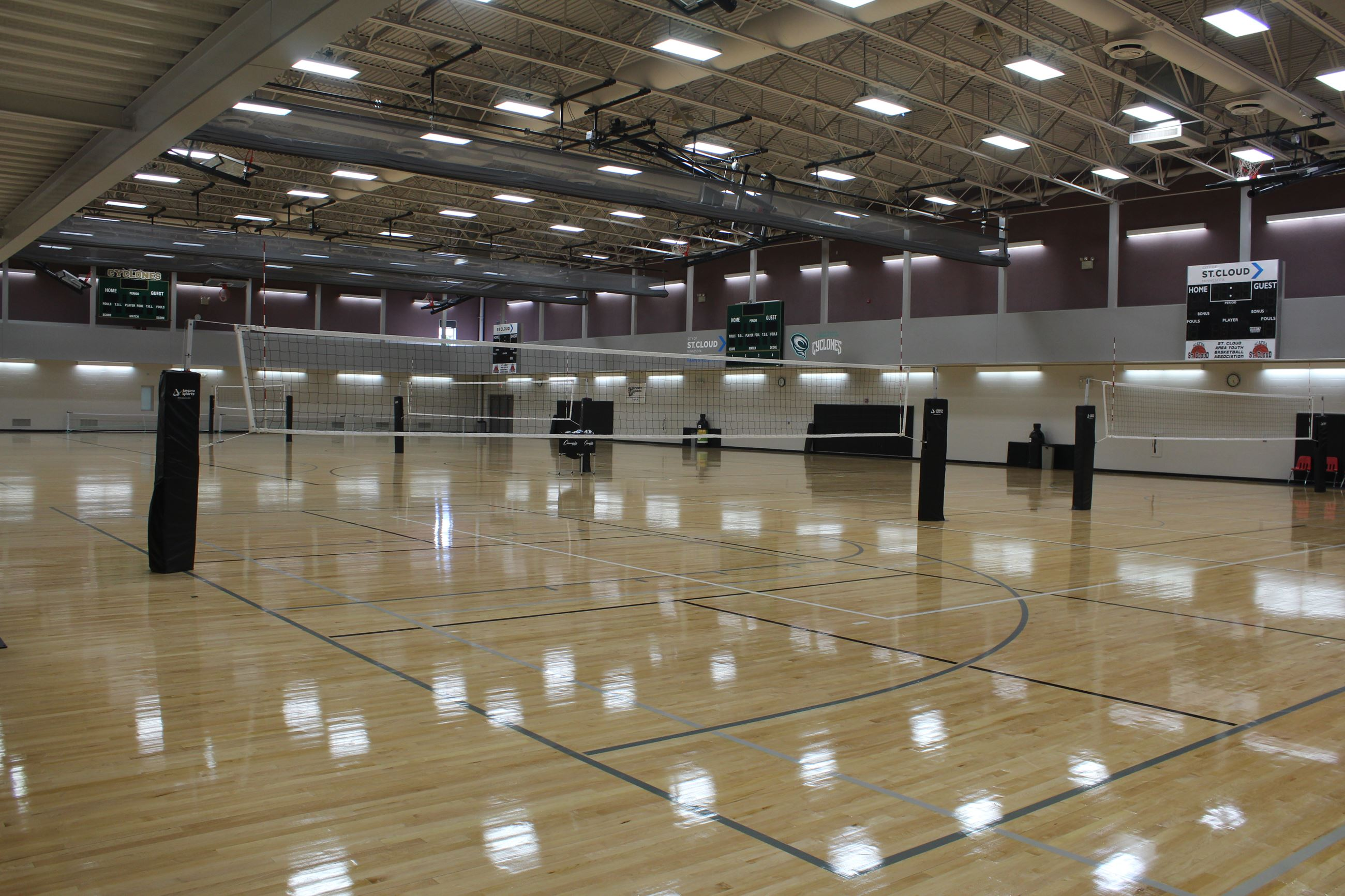 Whitney Recreation Center Gym Volleyball Court Set Up