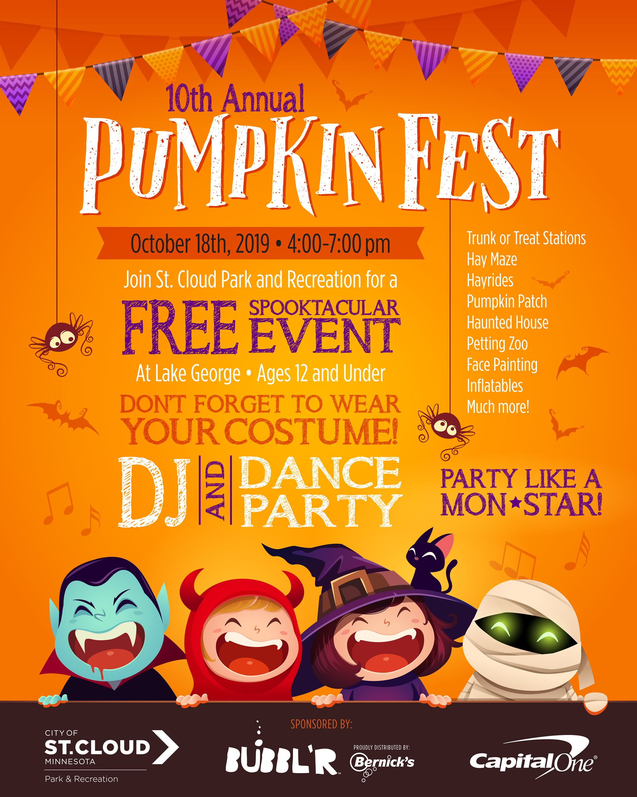 Pumpkinfest 2019 October 18th at Lake George