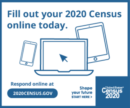 Fill out your 2020 census online today.