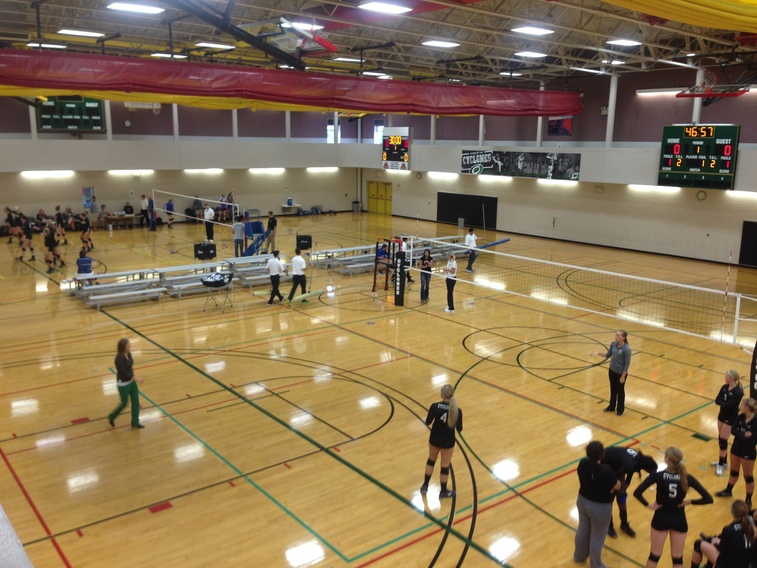 Tech Vball Tourney Set Up Walking Track