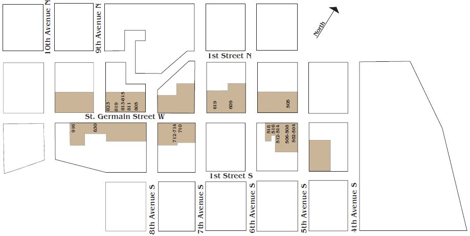 St. Cloud Commercial Historic District Map