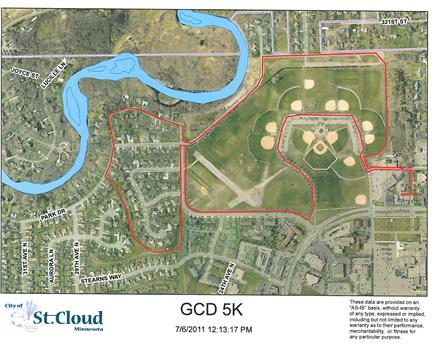 5K course at Whitney Park